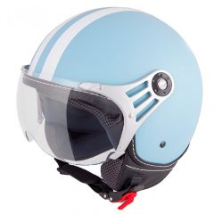 Vinz Fashionhelm Light Blue White Stripes