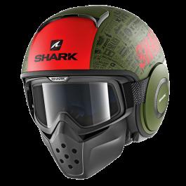 Shark Drak Tribute RM - Mat Groen / Zwart / Rood