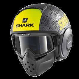 Shark Drak Tribute RM - Antraciet / Geel / Zwart
