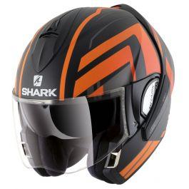 Shark Evoline 3 Corvus - Mat Zwart / Oranje