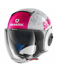 Shark Nano Jethelm - Tribute RM / Wit / Violet / Antraciet_2