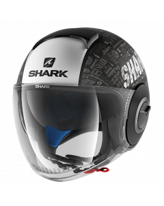 Shark Nano Jethelm - Tribute RM / Zwart / Wit / Antraciet