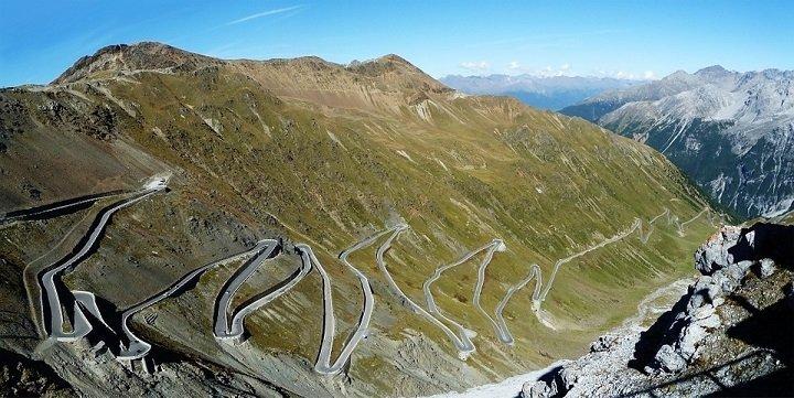Motorroute Stelviopas, Italië